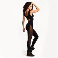 Sexy Sport Jumpsuit Femme Overalls Yoga Set