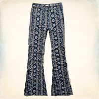 Patterned Knit Flare Pants
