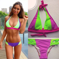 Hot Summer Beach New Arrival Swimsuit Hot Sale Swimwear Sexy Patchwork Bikini [5024206596]