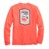 Vineyard Vines Long Sleeve Tee- Hot Sauce
