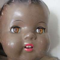 Darling African American Composition Doll Head