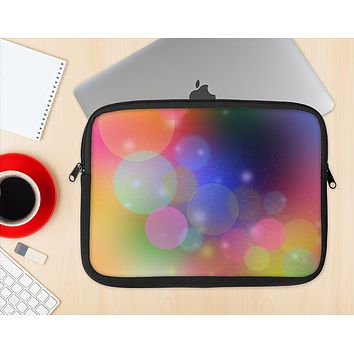 The Unfocused Color Rainbow Bubbles Ink-Fuzed NeoPrene MacBook Laptop Sleeve