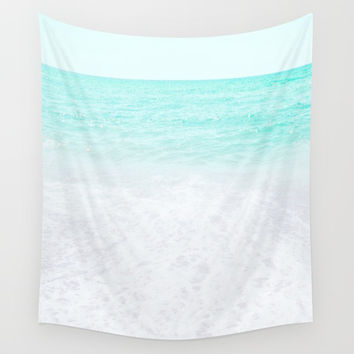 Sea foam Wall Tapestry by ARTbyJWP