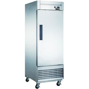 Commercial Kitchen Single Door Reach-In Refrigerator 27""