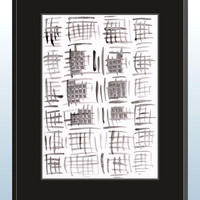 Modern black an white art. Contemporary brush drawing. Grayscale watercolor painting. Original illustration for wall art.