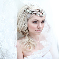 My Dazzling Kate headband - Bohemian halo with crystal flowers