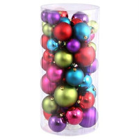 "50 Christmas Ball Ornaments 1.5 "" -2 ""  - Multi Color"