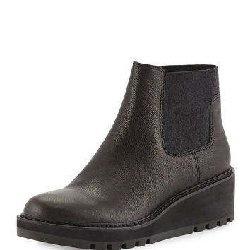 Low-Wedge Chelsea Boot, Black - Eileen Fisher