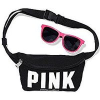 Pink By Victoria's Secret Spring Break Black Fanny Pack with Generic Sunglasses