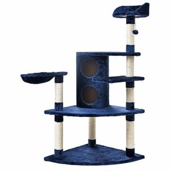 Cat Furniture Pet Dog House Suitable Pet Playing Training For Fun Climbing Frame Scratching Post - Walmart.com