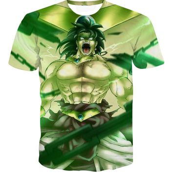 New Dragon Ball Z Costumes Super Saiyan Men's T-shirts Anime 3d Print Shirt Japanese Clothing Funny T-shirt Men Streetwear R2999