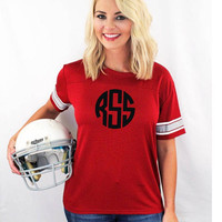 Monogrammed Game Time Tee- Several colors to choose from -Game Day -Personalized