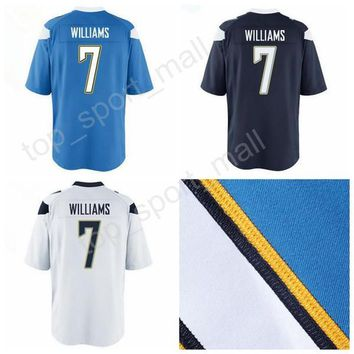 2017 Draft Pick 7 Mike Williams Jersey Men For Sport Fans Mike Williams Football Jerseys American Navy Blue White