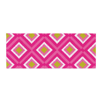"Nicole Ketchum ""Moroccan Hot Pink Tile"" Bed Runner"