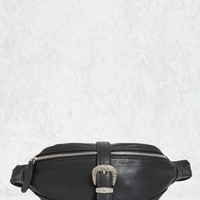 Buckled Faux Leather Fanny Pack