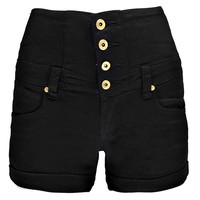 Ava High Waisted Coloured Denim Shorts