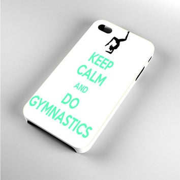 Keep calm and do Gymnastics Blue Text iPhone 4s Case