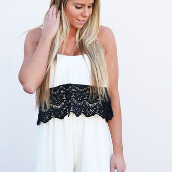 It's Black Or White Romper