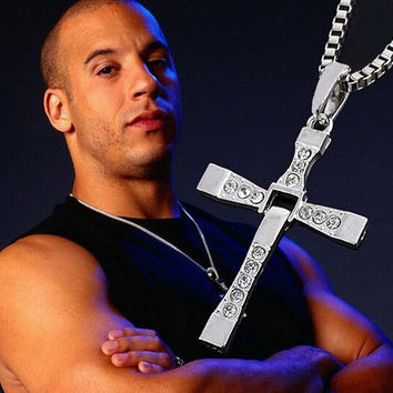 Fashion Stylish Silver Fast and Furious Toretto's Cross Necklace Jewelry