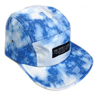 Quiet Life: Nylon Bleach 5 Panel Hat - Blue