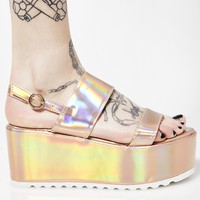 Rosé Cosmic Bae Of Light Hologram Platforms