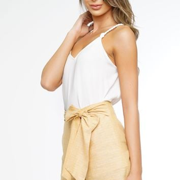 Jane Bow Shorts - Yellow