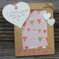 Large personalised wooden picture frame with your own wording