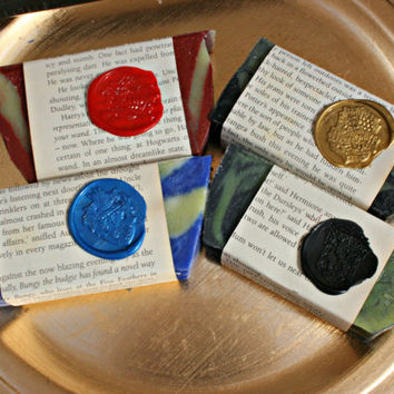 Complete Set of  Handmade Harry Potter Soaps- skin friendly & vegan