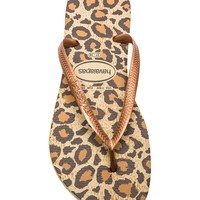Havaianas Slim Animals Flip Flop in Beige