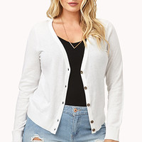 FOREVER 21 PLUS Must-Have V-Neck Cardigan Ivory