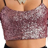 sequin lace bralette $20.20 in MINT PINK - Sleeveless   GoJane.com