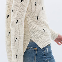 LONG EMBROIDERED SWEATER