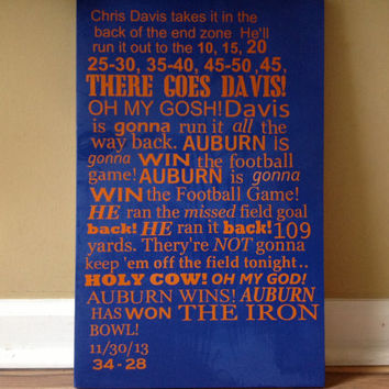 Auburn Radio Call Sign Iron Bowl college football sec 12x18 wood sign man cave 2013 play call Rod Bramblett