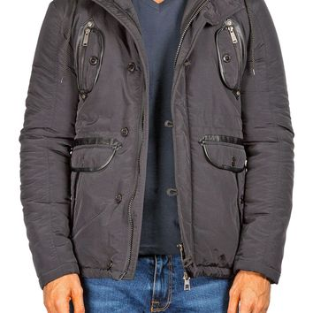 174202 - Black Hooded Field Jacket