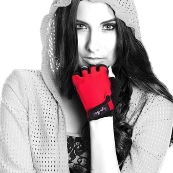 Fitness Gloves in Red Hot