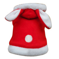 Autumn Winter Cartoon Pet Clothes For Cat Hoodie Bunny Small Cat Dog Clothes Pink Red Rabbit Shaped Hoody Clothing For Dog Cats