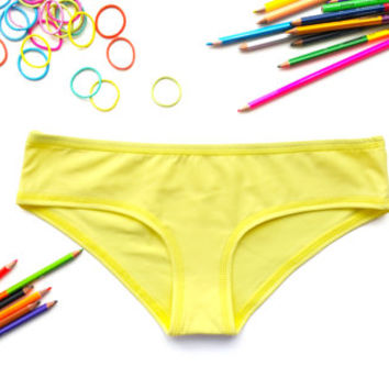 Yellow panties yellow knickers undies brief underwear