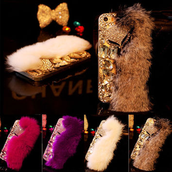 Luxury Furry Phone Cases For iPhone 7 6 6s Plus
