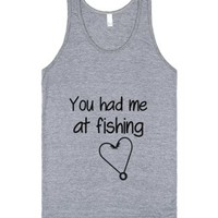 Fishing-Unisex Athletic Grey Tank