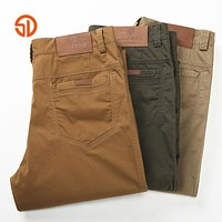 Clothing Military Men Trousers Spring Men Cotton 100% Washed Leisure Trousers