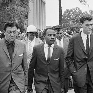 James Meredith First African American Student at University of Mississippi with US Marshals 1962 McMahan Photo Archive Art Print