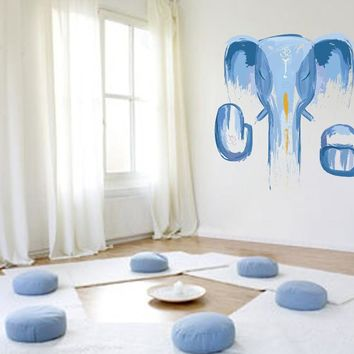cik785 Full Color Wall decal elephant god Ganesh Hindu meditation hall bedroom hall
