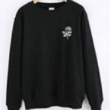 DCCKR2 Rose [India chest] mouth new sweater letter women