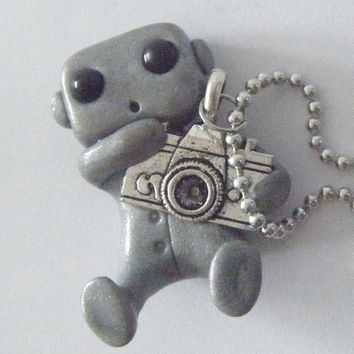 Robot with a Camera Necklace