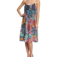 Diane von Furstenberg Franny Flower Power Dream Shift Dress, Multicolor