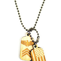 Chain Necklace | Dog Tags (Maple)