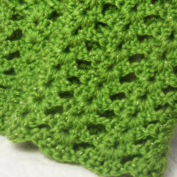 Green Sparkle Legwarmers, Crochet baby legwarmers, newborn legwarmes, infant leggings, girl leg warmers, baby photo prop
