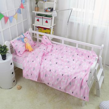 100*130cm Baby Quilt Cover For Girls and Boys Cotton Crib Bed Cartoon Baby Bedding Duvet Cover Without Filler
