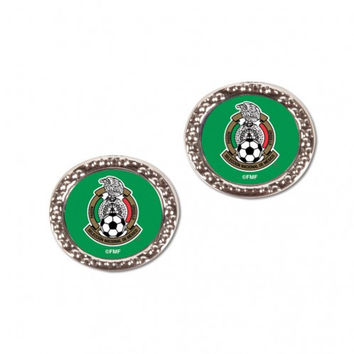 Mexican National Soccer Earrings Post Style