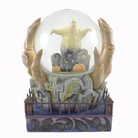 Jim Shore Halloween Is At Hand Snow Globe / Water Globe